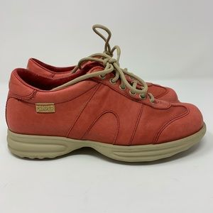 Camper Orange Coral Leather Sneakers made Spain